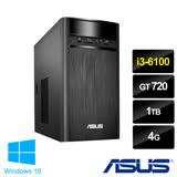 ASUS華碩K31CD i3-6100雙核心/GT720_2G獨顯/4G/1TB/Win10/光碟燒錄機 效能桌上型電腦(0021A610GTT)