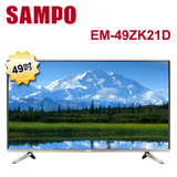 SAMPO聲寶49型4K Smart LED液晶+視訊盒EM-49ZK21D