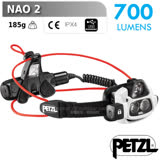 【法國 Petzl】新款 NAO 2 智慧型感應式頭燈(700流明超高亮度).LED燈/智能光感自動調光.USB可充電.更省電/E36AHR-2
