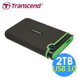 創見 StoreJet 2TB 25M3 USB3.0 2.5吋行動硬碟(TS2TSJ25M3)-鐵灰