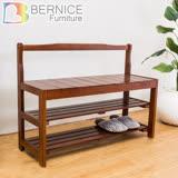 Bernice-皮爾斯3尺實木二層大鞋架/穿鞋椅-DIY