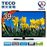 東元TECO 39吋晶鑽系列高畫質LED顯示器+視訊盒\ TL3912TRE+TS1301TRA1