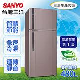 【SANYO台灣三洋】480L雙門直流變頻冰箱/SR-A480BV3