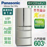 國際牌Panasonic 六門變頻冰箱-不鏽鋼(603L)(NR-F607TT-S1) ★送↘SKYLINE不沾單柄炒鍋