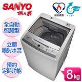 SANYO台灣三洋 媽媽樂8kg單槽洗衣機★送↘SKYLINE不沾單柄炒鍋28CM (ASW-95HT)