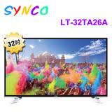 SYNCO新格 32吋LED液晶顯示器+視訊盒 LT-32TA26A 含運送+送華冠7吋扇