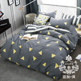 AGAPE亞加•貝【繽紛潮流】100%精梳純棉 標準雙人(5x6.2尺)四件式涼被床包組/加高35CM