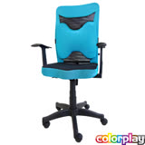 【Color Play生活館】美型大蝴蝶腰枕T型扶手辦公椅/電腦椅/會議椅/職員椅(七色)
