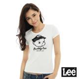 Lee 短袖T恤 Buddy Lee 圖案印刷-女款-白