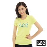Lee 短袖T恤 logo熱帶雨林印刷-女款-黃