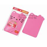 下殺↘59〔小禮堂〕Hello Kitty 塑膠造型砧板《粉.大臉.蝴蝶結》可愛又實用