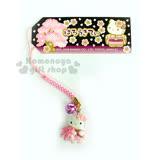 〔小禮堂〕Hello Kitty 造型鈴鐺手機吊飾《粉.櫻花.和服.站姿》可愛又悅耳的吊飾