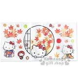 〔小禮堂〕Hello Kitty 創意壁貼《和服.楓葉.蘋果》隨心創造夢幻空間.透明塑膠裝