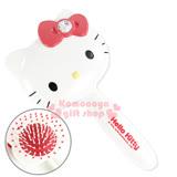 〔小禮堂〕Hello Kitty 造型按摩氣墊梳子《白.大臉.盒裝》實用可愛