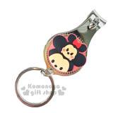〔小禮堂〕迪士尼 Tsum Tsum 米奇米妮 指甲剪《小.紅.大臉.附鑰匙圈》方便隨身攜帶