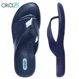 【OkaB】ELLE簡約夾腳拖鞋 藍色(K9835-BU)
