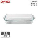 (任選)美國康寧 Pyrex 耐熱玻璃長方形烤盤-2.8L