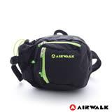 AIRWALK -海豚系 多口袋撞色隨身霹靂腰包-黑綠色