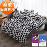 J-bedtime【時尚】3M專利透氣吸濕排汗防螨抗菌四季涼被-5X6尺