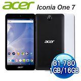 送玻璃貼【白爛貓限量款】 ACER Iconia One 7(B1-780)7吋IPS四核 (WiFi版/16G/白)