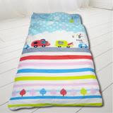 HO KANG 100%純棉兒童睡袋 鋪棉涼被兩用 加大款-快樂巴士