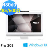 msi微星 Pro 20E 4BW-073TW 20吋 N3060 WIN10 液晶電腦
