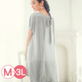 日本ANNA LUNA 預購-背綁結繡花蕾絲長版上衣(共四色/M-3L)
