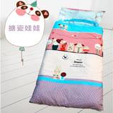 HO KANG 100%純棉兒童睡袋 鋪棉涼被兩用 加大款-搪瓷娃娃