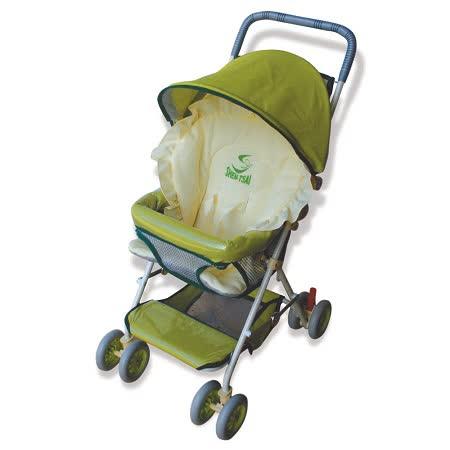 【優生】全罩式輕便推車ST-3721A(綠色款)兒童安全推車/幼兒推車-買就送優生嬰兒車用蚊帳 -friDay購物 x GoHappy