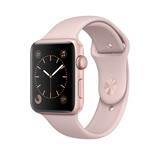 Apple Watch Series 2 Sport 42mm 玫瑰金色 鋁金屬錶殼 搭配 粉沙色 運動型錶帶(MQ142TA/A)
