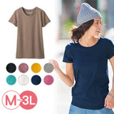 日本Portcros 預購-百搭休閒圓領素色T恤(共九色/M-3L)