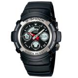 CASIO 卡西歐 G-SHOCK 經典多功能雙顯男錶 AW-590-1A