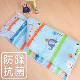 鴻宇HongYew《動物農場-藍》防蹣抗菌 舖棉兩用兒童睡袋