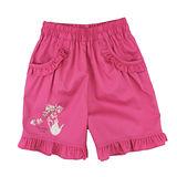 【愛的世界】MYBABY 午茶時光系列鬆緊帶純棉短褲/6~8歲-台灣製-