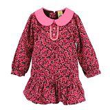 【愛的世界】MYBABY 甜心公主系列圓領片條絨長袖洋裝/2~3歲-台灣製-