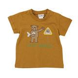 【愛的世界】LOVEWORLD 熊出沒系列純棉圓領短袖T恤-咖啡/1~2歲-台灣製-