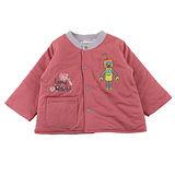 【愛的世界】LOVEWORLD 機器人系列鋪棉兩面穿外套-紅色/6個月~3歲-台灣製-