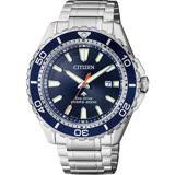 CITIZEN 星辰 PROMASTER 光動能200米潛水錶-藍/44mm BN0191-80L