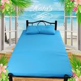 《KOTAS》 安其羅冬夏防潑水床墊-單~送記憶枕x1(藍)