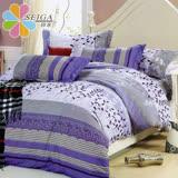 飾家《葉葉生輝》頂級加大活性絲柔棉四件式兩用被床罩組台灣製