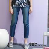 【克萊亞KERAIA】褲口可反摺百搭牛仔褲