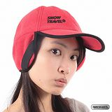[SNOW TRAVEL] WINDBLOC防風保暖遮耳棒球帽 (紅色)