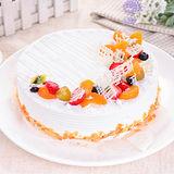 【樂活e棧】生日快樂造型蛋糕-典藏白之翼(8吋/顆,共1顆)