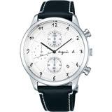 【agnes b】法國藝術手寫都會風時尚計時腕錶(40mm/VD57-00A0S)
