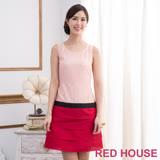 Red House 蕾赫斯-無袖蕾絲蛋糕裙洋裝(紅色)