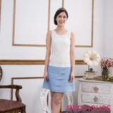 Red House 蕾赫斯-無袖蕾絲蛋糕裙洋裝(淺藍色)