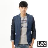 Lee 牛仔西裝外套 深淺拼接 -男款(藍)