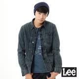 Lee 牛仔外套 人字紋西裝式條紋外套 -男款(懷舊藍)