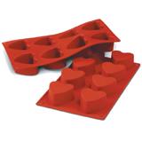義大利進口《Silikomart》8連心型矽膠模/冰模/30.040.00.0060