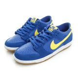 NIKE 男鞋 滑板鞋 藍黃 NIKE SB ZOOM DUNK LOW PRO -854866471